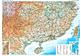 Südchina Karte mit Taiwan 125 x 88cm