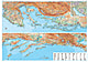 Dalmatien / Istrien Karte Poster 125 x 88cm