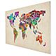 Weltkarte Buchstaben