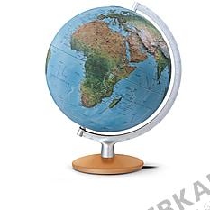 Double image relief globe FRI3017 30cm with silver metallic meridian