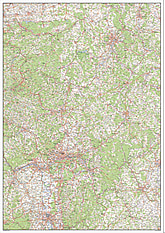 Digitalt kort over Hessen