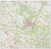 Digitale Brandenburg / Berlin Karte