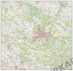 Digital Map of Brandenburg / Berlin
