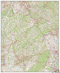 Digitalt kort over Rheinland-Pfalz / Saarland