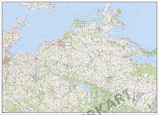 Digital Map of Mecklenburg-Western Pomerania