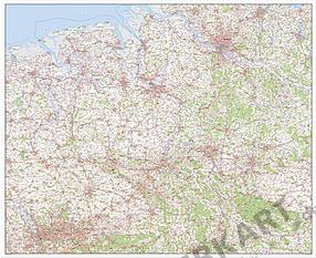 Digitalt kort i Niedersachsen og Bremen