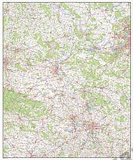 Digitalt kort over Sachsen-Anhalt