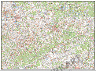 Digitalt kort over Sachsen
