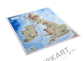 3D Relief Map of British Isles