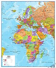 EMEA Europa, Afrika, Mellemøsten Kort