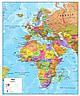 EMEA Karte Europa, Afrika, Mittlerer Osten