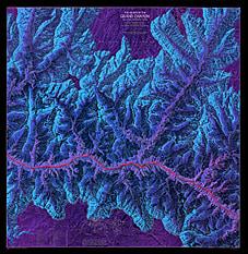 Grand Canyon kort National Geographic