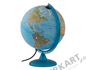 Globe for kids illuminated German 25cm