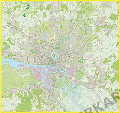 Hamburg Stadtplan XXL 200 x 190cm