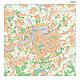 Postleitzahlenkarte mit Stadtplan Dortmund 100 x 100cm