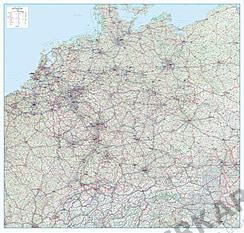 Roadmap Germany, Austria, Switzerland and Benelux 154 x 147cm