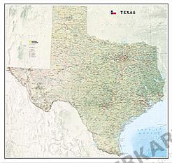 Texas Karte 99 x 104cm
