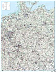 Roadmap Germany 135 x 174cm
