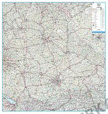 Straßenkarte Deutschland Bundesland Bayern 105 x 110cm