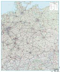 Road Map D-A-CH 125 x 150cm