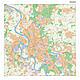 Stadtplan Düsseldorf mit Postleitzahlen 100 x 100cm