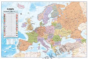 Europa Kort politisk tysk som plakat 90 x 61cm