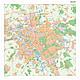 Stadtplan Hannover mit Postleitzahlen 100 x 100cm