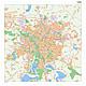 City Map Leipzig with Postcodes 100 x 100cm