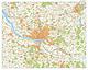 Stadtplan Großraum Hamburg mit Postleitzahlen 150 x 120cm