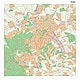 Stadtplan Stuttgart mit Postleitzahlen 100 x 100cm