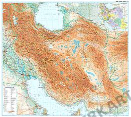 Iran Landkarte Poster physikalisch