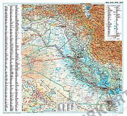Irak Landkarte physikalisch 73 x 68cm