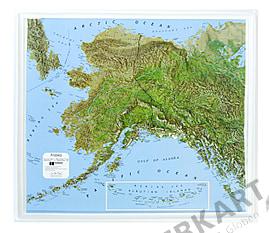 3D Relief Alaska Karte