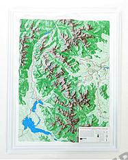 3D Relief Karte Rocky Mountain National Park