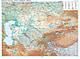 Kasachstan Landkarte physikalisch 120 x 88cm