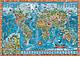 Kinderweltkarte Amazing World englisch 138 x 98cm
