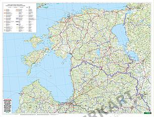 Estland Lettland Litauen Karte Vorderseite