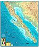 Baja California Map 78 x 95cm