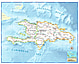 Haiti / Dominican Republic Map112 x 90cm