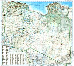 Libyen Straßen Landkarte