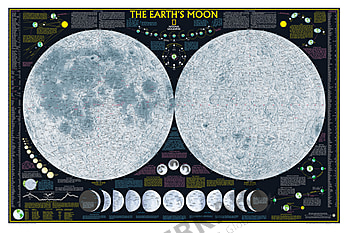 The Moon Atlas Wall Map Poster from National Geographic