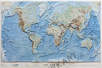 3D World Map Ocean Floor