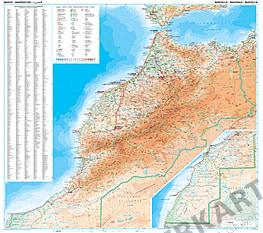 Marokko kort 99 x 88cm