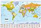 Politische Weltkarte mit Flaggen deutsch - Pinnwand