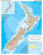 Neuseeland physikalische Landkarte