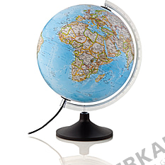 Illuminated classic globe 30cm with plastic base from National Geographic