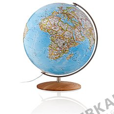 Illuminated globe 37cm with wooden base from National Geographic