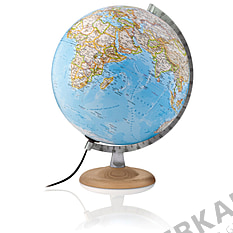 Illuminated classic globe 30cm with bright wooden base from National Geographic