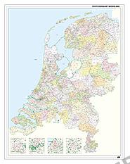 Postleitzahlenkarte der Niederlande 100 x 130cm