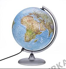 Double image illuminated globe 30cm